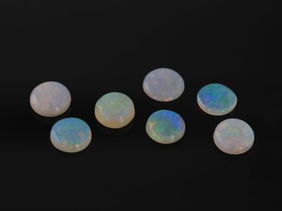 White Opal 4.5mm Cabochon Round 1st Grade (N)