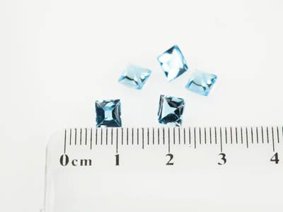 Topaz Medium Blue 5mm Square Cabochon (T)