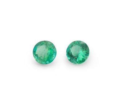 Emerald 3.75mm Round 2nd Grade (E)