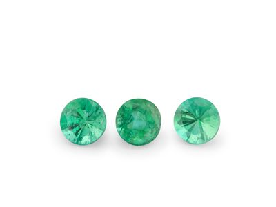 Emerald 3.5mm Round 2nd Grade (E)