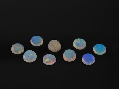 White Opal 3.5mm Cabochon Round 1st Grade (N)