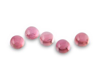 Pink Tourmaline 3.5mm Cabochon Round 1st Grade
