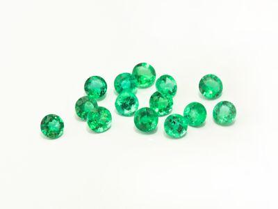 Emerald 3mm Round 2nd Grade (E)