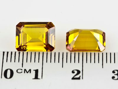 Synthetic Yellow Sapphire 10x8mm Emerald Cut (S)