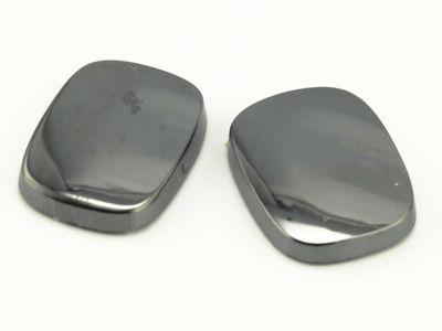 Haematite 16x12mm Cushion Buff-Top SB German Cut (N)