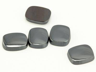 Haematite 12x10mm Cushion Buff-Top SB German Cut (N)