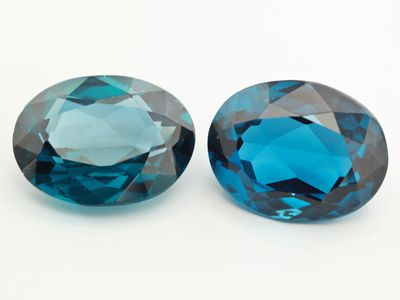 Synthetic Blue Spinel Zircon 18x14mm Oval