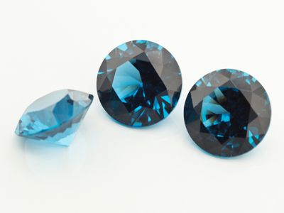 Synthetic Blue Spinel Zircon 12mm Round (S)