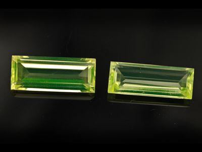 Syn Peridot Spinel 20x8mm Baguette Swiss (S)
