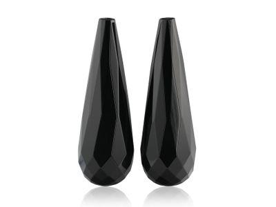 Onyx Briolette 30x10mm Pair (T)
