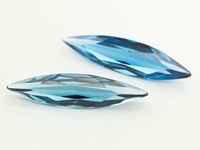 Syn Zircon Spinel 24.7x6.2mm Marquise Swiss (S)