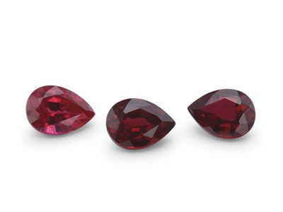Hydrothermal Ruby 7x5mm Pear Shape (S)