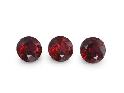 Hydrothermal Ruby 6mm Round (S)