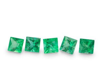 Emerald 2.75mm Square Princess Gem Grade (E)