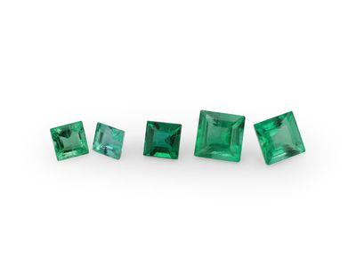 Emerald 3mm Square Carre 1st Grade (E)