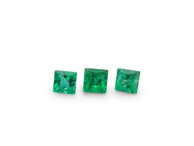 Emerald 2.25mm Square Princess Gem Grade (E)