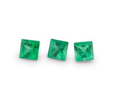 Emerald 3.25mm Square Princess Gem Grade (E)