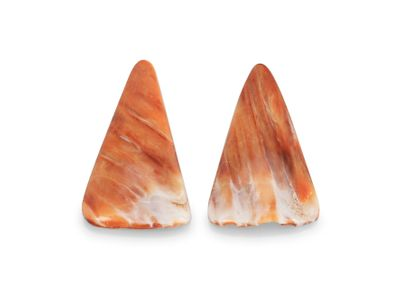 Spiny Oyster Shell Assort Size & Shape Cabochon Pair (N)