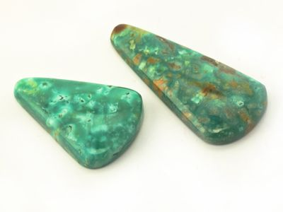 Green Sonoran Turquoise Assort Size Trapezium Cabochon. Small (E)