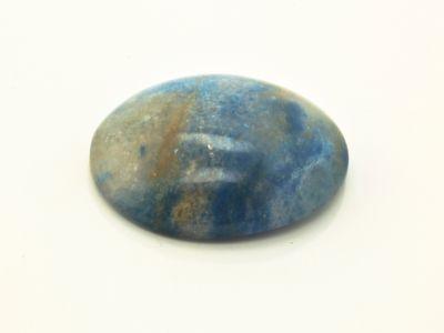 Quartz with Blue Troilite/Lazulite 28x22mm Oval Cab (N)
