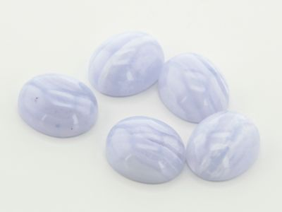 Blue Lace Agate 12x10mm Oval Cabochon A (N)