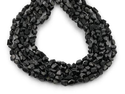 Black Spinel Tumble Polish Crystals +/-8x6mm (N)
