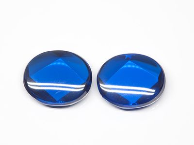 Bright Blue Syn Spinel Buff-Top 12x10mm Oval (S)