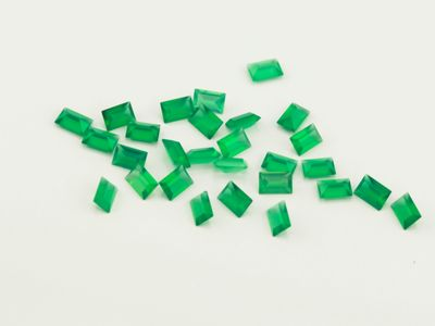 Dyed Green Agate 3x2mm Baguette Faceted (T)