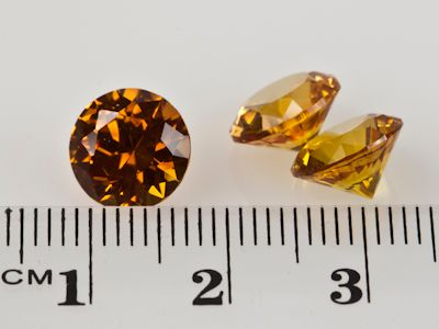Synthetic Yellow Sapphire 9mm Round (S)