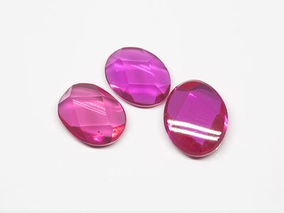 Ruby Syn Pink Red Buff-Top 10x8mm Oval (S)