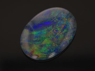 Opal Triplet 18x13mm Oval