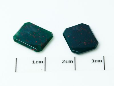 German Cut Bloodstone 12x10mm Octagonal BuffTop (N)