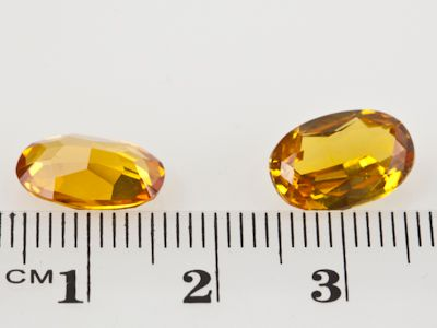 Synthetic Yellow Sapphire 12x8mm Oval (S)