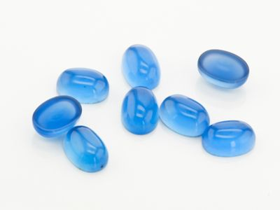Dyed Blue Agate 7x5mm Oval Cab (T)