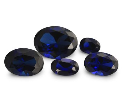 Synthetic Blue Sapphire 11x7mm Oval (S)