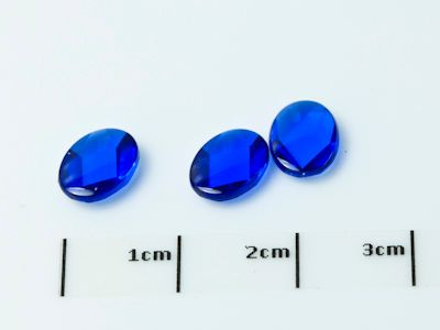 Syn Blue Spinel 8x6mm Oval BT (S)