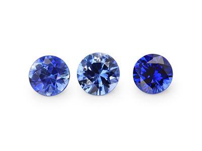 Ceylon Sapph 3.5mm Round Strong Bri-Blue (E)