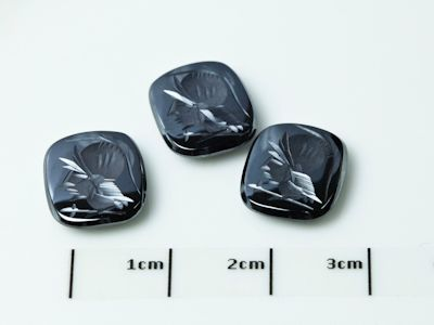 German Cut Haematite 12x10mm Cushion Cut Intaglio (N)