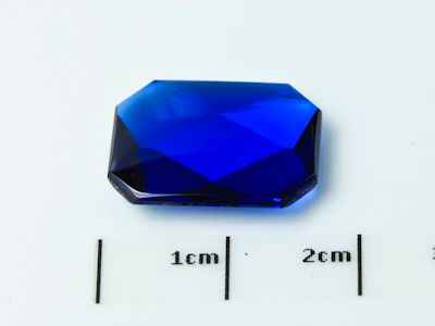 Bright Blue Syn Spinel Buff-Top 16x12mm Emerald  (S)