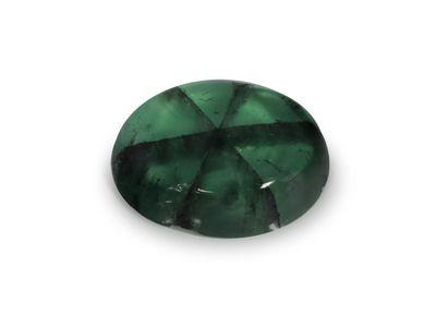 Emerald Trapiche 7x5.1mm Oval Cabochon (E)