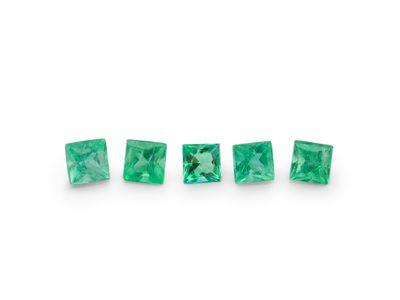 Emerald 2mm Square Princess Gem Grade (E)