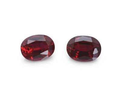 Hydrothermal Ruby 8x6mm Oval (S)