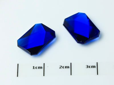 Bright Blue Syn Spinel Buff-Top 14x10mm Emerald  (S)