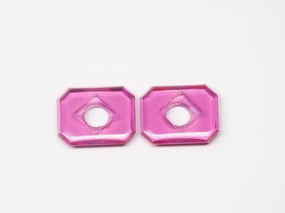 Syn Ruby Pink 10x8mm Emerald BT CS Flat Back (S)