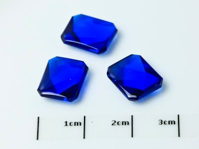 Bright Blue Syn Spinel Buff-Top 11x9mm Emerald  (S)