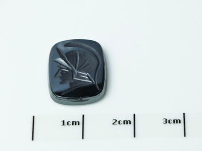 German Cut Haematite 16x12mm Cushion Cut Intaglio (N) ($/ea)