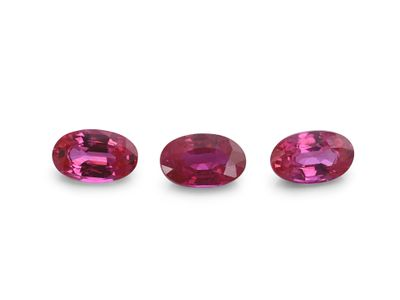 Ruby 5x3mm Oval Good Pink Red (E)