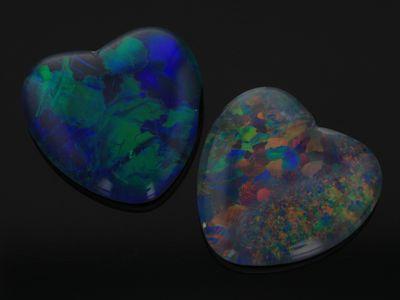 Opal Triplet 12mm Heart Shape