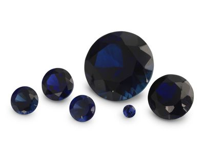 Syn Blue Sapphire 8mm Round (S)