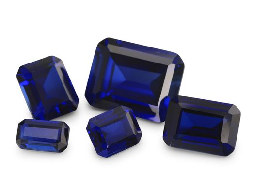 Synthetic Blue Sapphire 18x13mm Emerald Cut (S)